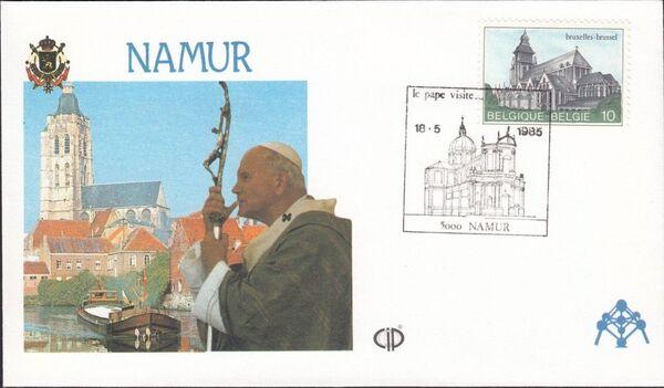 Belgium 1985 Visit of Pope John Paul II FDCy