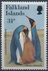 Falkland Islands 1991 WWF - King Penguin e