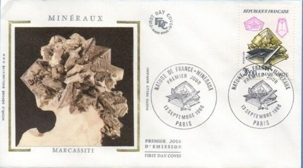 France 1986 Minerals FDCa