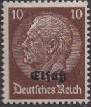 German Occupation-Alsace 1940 Stamps of Germany (1933-1936) Overprinted in Black f