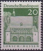 Germany, Federal Republic 1967 Building Structures from Twelve Centuries (2nd Group) b