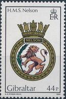 Gibraltar 1986 Royal Navy Crests 5th Group d