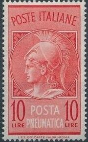 Italy 1958 Pneumatic Post Stamp - Minerva a