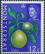 Montserrat 1965 Fruit & Vegetables and Portrait of Queen Elizabeth II i