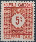 New Caledonia 1948 Numerals (Official Stamps) h
