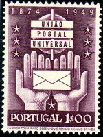 Portugal 1949 75th anniversary of the UPU a