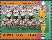 Sierra Leone 1990 Football World Cup in Italy q