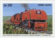 Sierra Leone 1995 Railways of the World ja