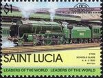 St Lucia 1983 Leaders of the World - LOCO 100 t