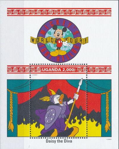 Uganda 1992 Walt Disney Characters on World Tour k