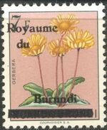 Burundi 1962 Flower Issue of Ruanda-Urundi Overprinted g
