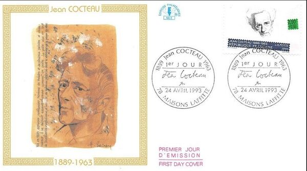 France 1993 Writers FDCc