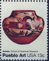 United States of America 1977 American Folk Art Series - Pueblo Pottery d