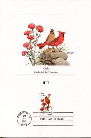 United States of America 1982 State birds and flowers FOLd8