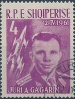 Albania 1962 1st manned space flight - Yuri Gagarin b