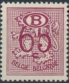 Belgium 1952 Official Stamps (Heraldic Lion with Numeral and B in oval) e