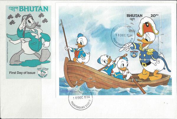 Bhutan 1984 50th Anniversary of Donald Duck m