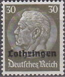 German Occupation-Lothringen 1940 Stamps of Germany (1933-1936) Overprinted in Black k