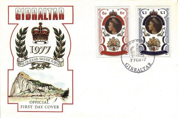 Gibraltar 1977 25th Anniversary of Queen Elizabeth Regency f
