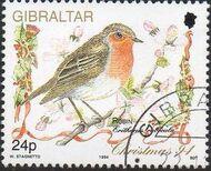 Gibraltar 1994 Christmas - Songbirds b
