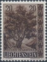 Liechtenstein 1958 Native Trees and Shrubs (2ndt Group) a