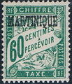 Martinique 1927 Postage Due Stamps of France Overprinted h.jpg