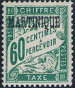 Martinique 1927 Postage Due Stamps of France Overprinted h