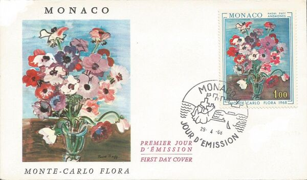 Monaco 1968 International Flower Show, Monte Carlo FDCa