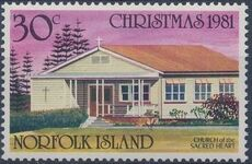 Norfolk Island 1981 Christmas (Churches) c