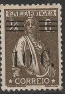 Portugal 1928 Ceres Surcharged a