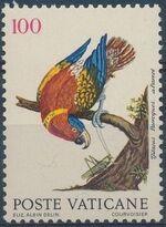 Vatican City 1989 Birds from Eleazar Albin Engravings a