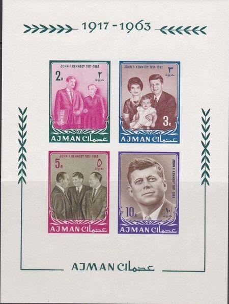 Ajman 1964 President Kennedy SSa