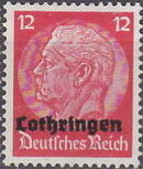 German Occupation-Lothringen 1940 Stamps of Germany (1933-1936) Overprinted in Black g