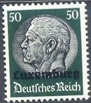 German Occupation-Luxembourg 1940 Stamps of Germany (1933-1936) Overprinted in Black m