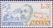 Malta 1974 Centenary of Universal Postal Union a