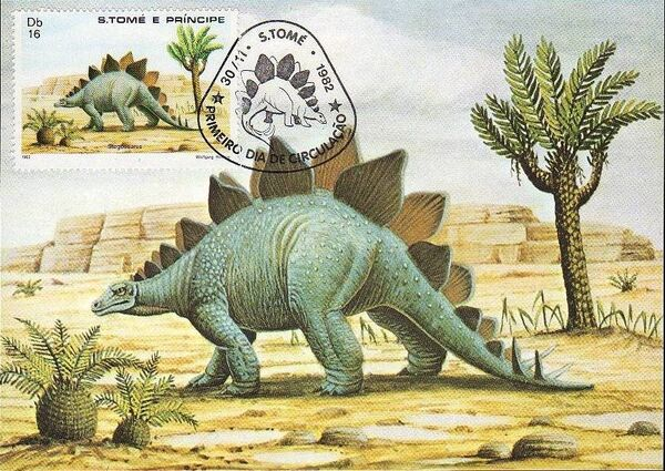 St Thomas and Prince 1982 Dinosaurs i