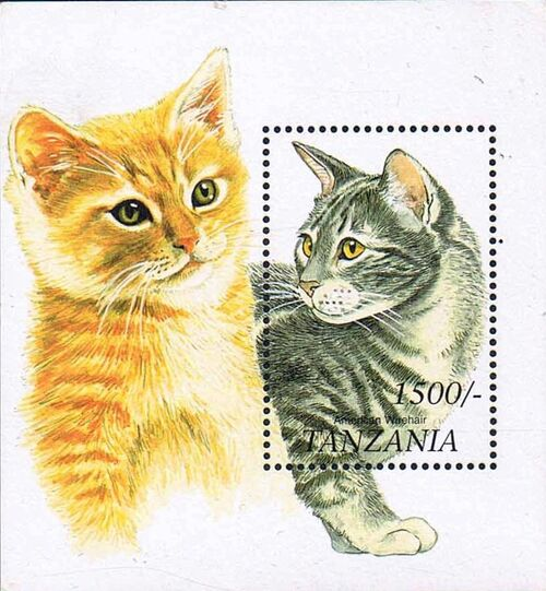 Tanzania 1999 Cats of the World n