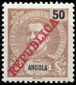 Angola 1911 D. Carlos I Overprinted g