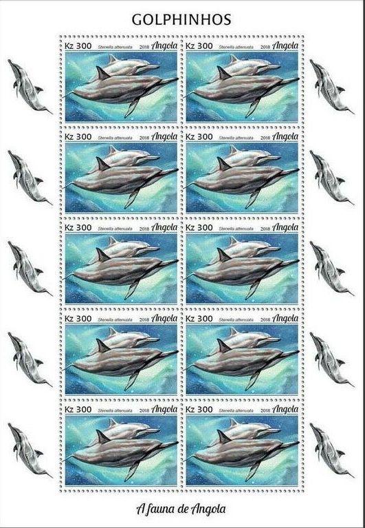 Angola 2018 Wildlife of Angola - Dolphins Sd