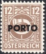 Austria 1946 Occupation Stamps of the Allied Military Government Overprinted in Black f