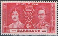 Barbados 1937 George VI Coronation a