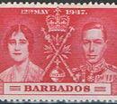 Barbados 1937 George VI Coronation