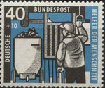 Germany, Federal Republic 1957 For Independent Welfare Organizations (Coal Mining) d