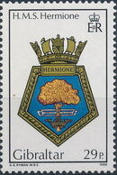 Gibraltar 1986 Royal Navy Crests 5th Group b