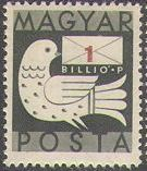 Hungary 1946 Dove and Letter a