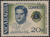Nicaragua 1958 17th Convention of Lions International of Central America c