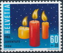 Switzerland 1994 PRO JUVENTUTE - Christmas Candles and Mushrooms a