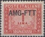 Trieste-Zone A 1949 Postage Due Stamps of Italy 1947-1954 Overprinted a