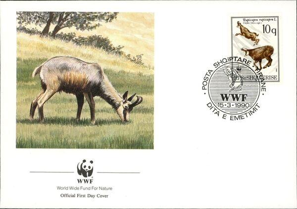 Albania 1990 WWF - Chamois FDCa