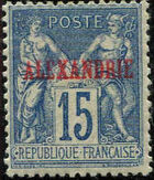 "Alexandria 1899 Type Sage Overprinted ""ALEXANDRIE"" i"
